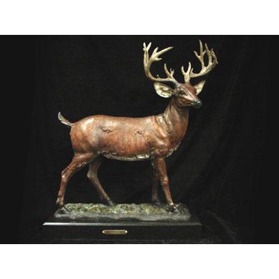 bronze deer urn
