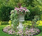 Urn garden cremation memorials