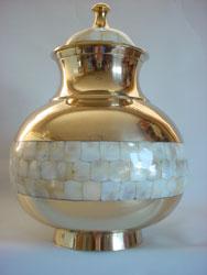 Mother of Pearl Memorial Urn