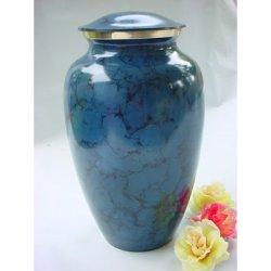 Blue Cremation Urn