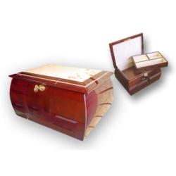 Mahogany Burl Memorial Urn